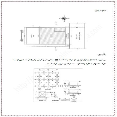 پروژه متره و برآورد ساختمان بتنی 1 طبقه