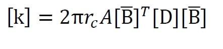 ماتریس سختی [k] برای تحلیل تقارن محوری