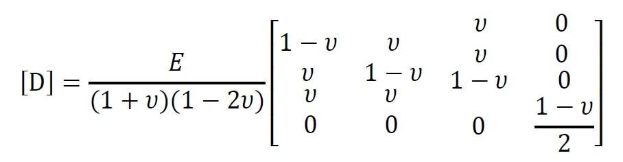 ماتریس خواص [D] در تحلیل تقارن محوری
