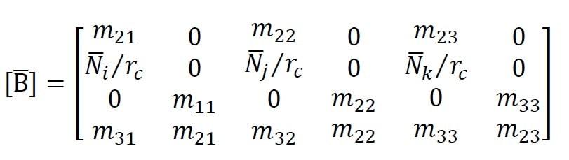 ماتریس [B] در تحلیل تقارن محوری