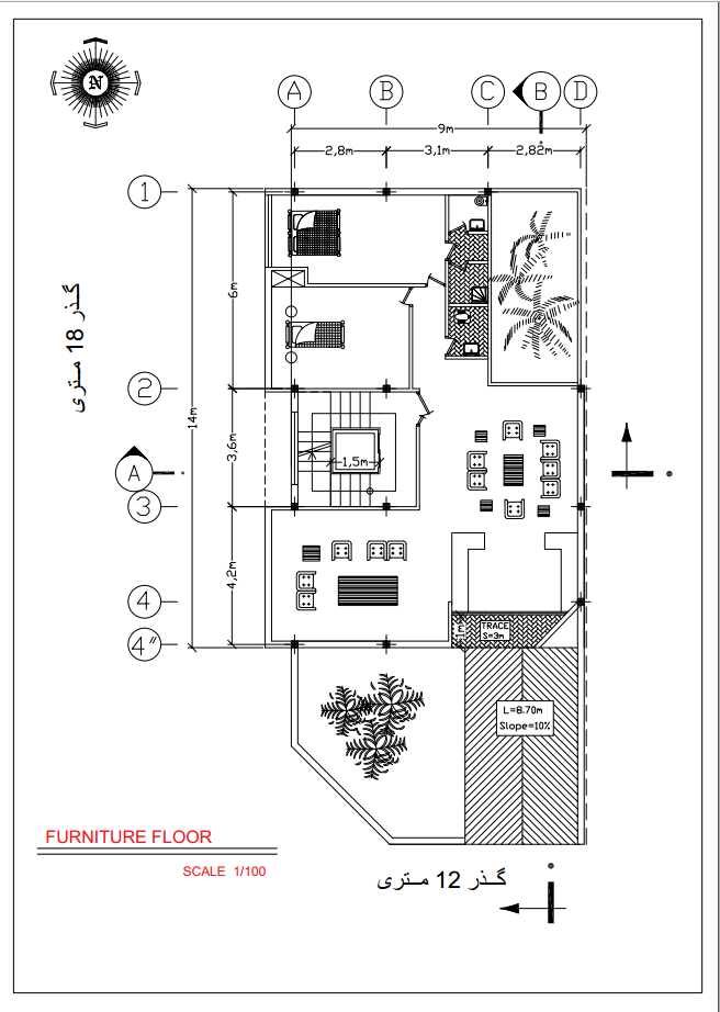 نقشه کشی ساختمان با اتوکد طبق ضوابط شهرداری